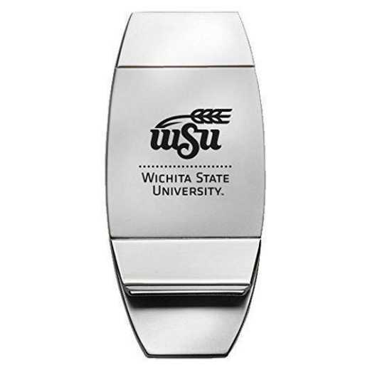 1145-WICHITA-L1-LRG: LXG MONEY CLIP, Wichita State
