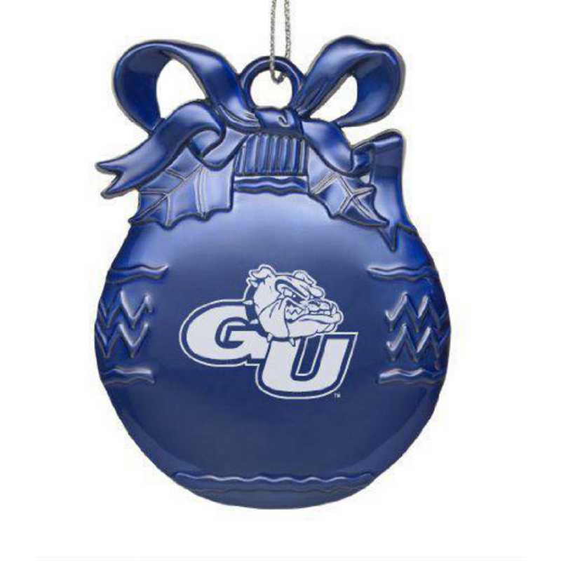 Blue Pewter Christmas Tree Ornament LXG Gonzaga Bulldogs