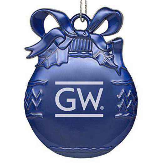 4022-BLU-GORGWSH-CLC: LXG BULB ORN BLU, George Washington University