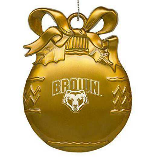 4022-GLD-BROWN-RL1-IND: LXG BULB ORN GOLD, Brown University