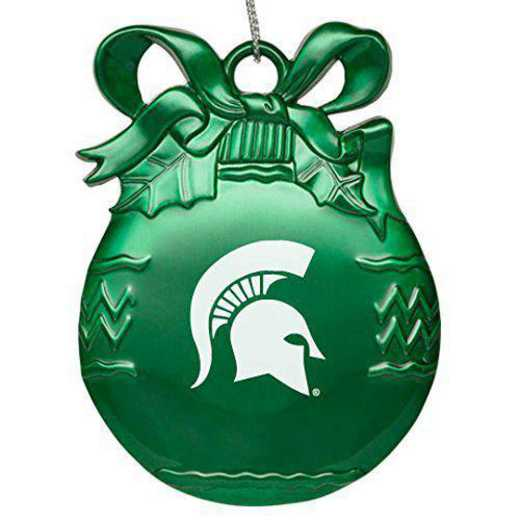 4022-GRN-MICHST-L1-IND: LXG BULB ORN GREEN, Michigan State