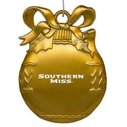 4022GLD-STHRNMS-RL1-IND: LXG BULB ORN GOLD, Southern Mississippi