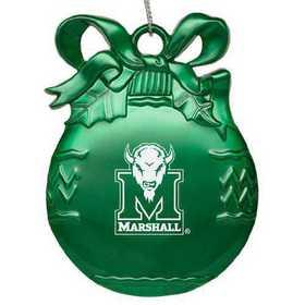 NCAA Marshall Thundering Herd Art Glass Ornament