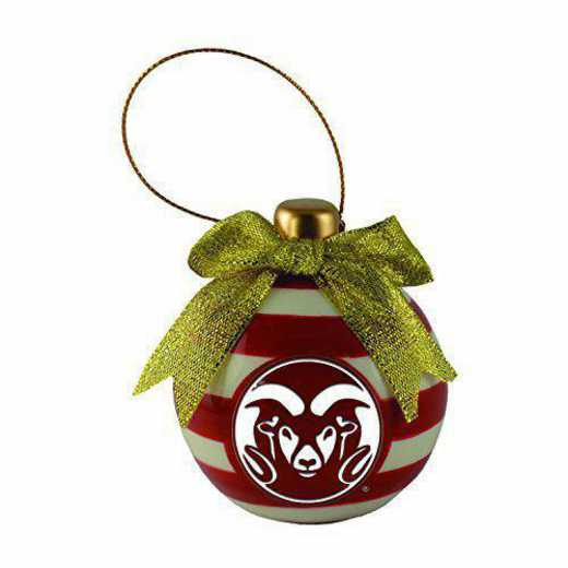 CER-4022-CSU-LRG: LXG CERAMIC BALL ORN, Colorado State