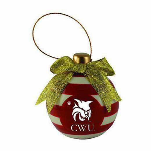 CER-4022-CWU-CLC: LXG CERAMIC BALL ORN, Central Washington