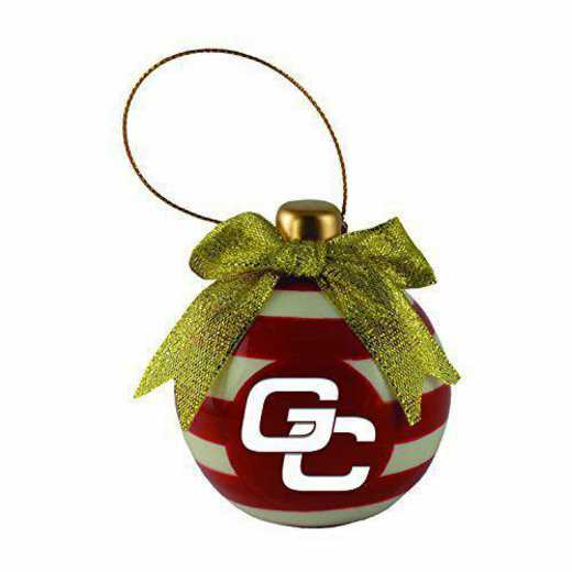 CER-4022-GCSU-SMA: LXG CERAMIC BALL ORN, Georgia College