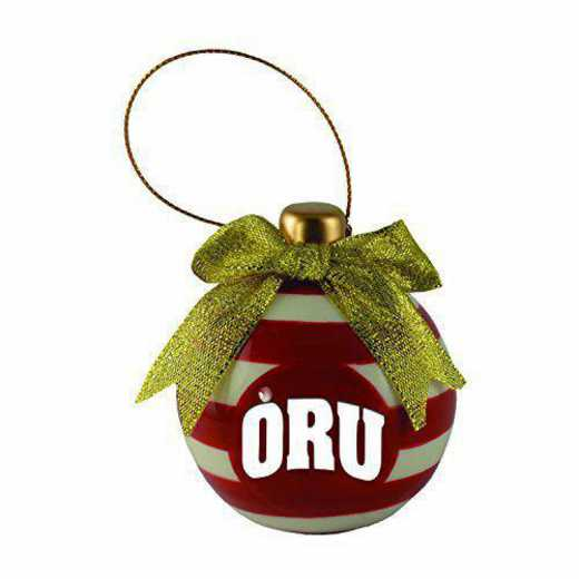CER-4022-ORALRBT-LRG: LXG CERAMIC BALL ORN, Oral Roberts University