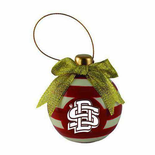 CER-4022-SDKTAST-IND: LXG CERAMIC BALL ORN, South Dakota State