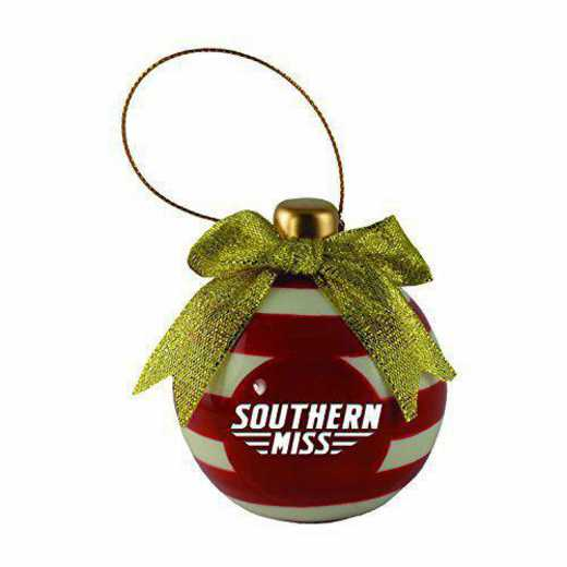 CER-4022-STHRNMS-LRG: LXG CERAMIC BALL ORN, Southern Mississippi