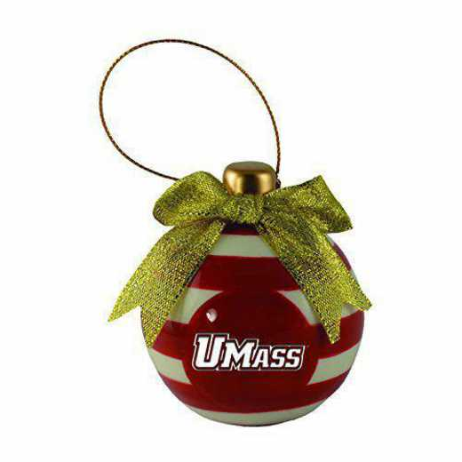 CER-4022-UMASSA-IND: LXG CERAMIC BALL ORN, Massachusetts Amherst