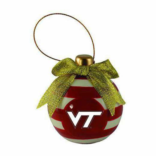 CER-4022-VATECH-CLC: LXG CERAMIC BALL ORN, Virginia Tech