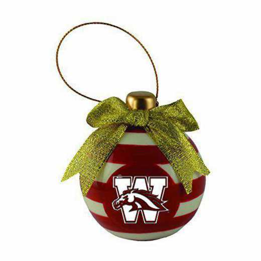 CER-4022-WESTMICH-LRG: LXG CERAMIC BALL ORN, Western Michigan