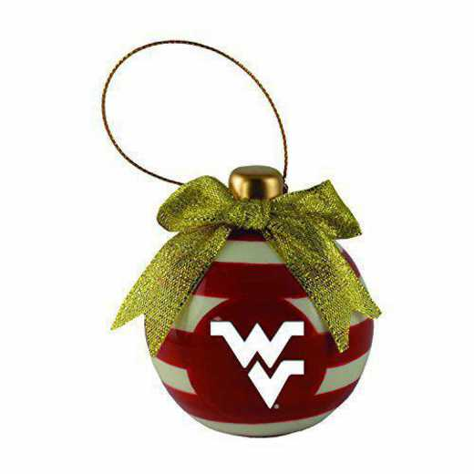 CER-4022-WESTVA-CLC: LXG CERAMIC BALL ORN, West Virginia