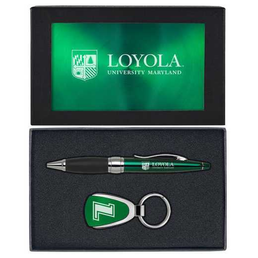 SET-A1-LOYLACL-GRN: LXG Set A1 KC Pen, Loyola-Maryland