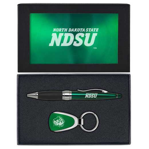 SET-A1-NDKTAST-GRN: LXG Set A1 KC Pen, North Dakota State