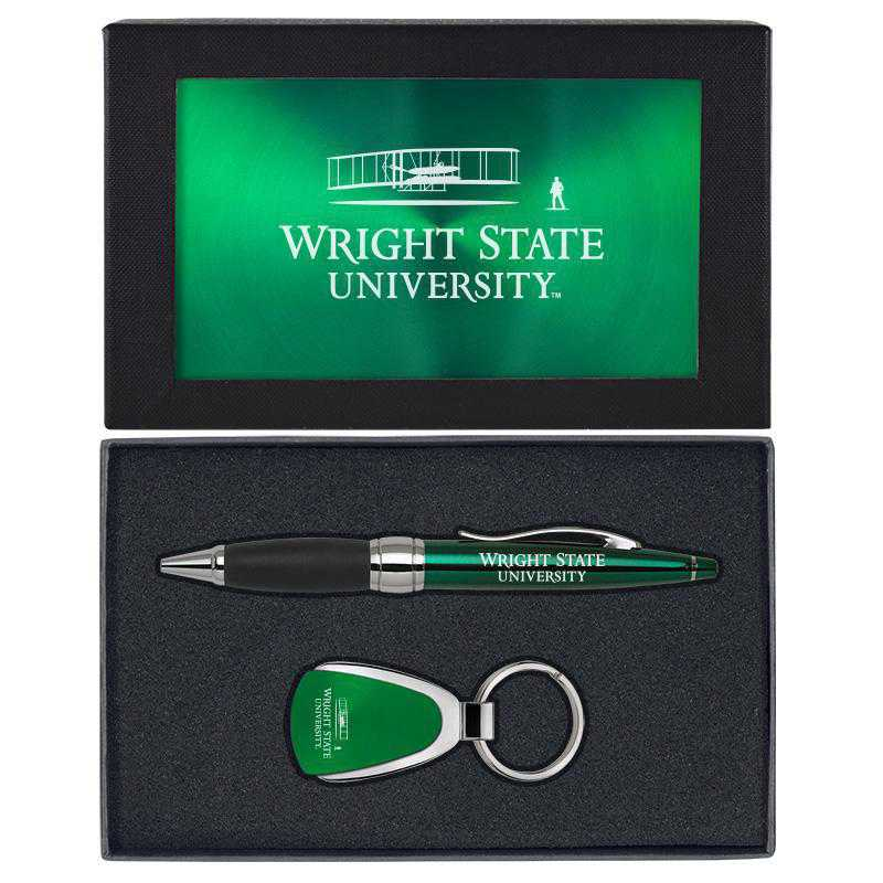 SET-A1-WRGHTST-GRN: LXG Set A1 KC Pen, Wright State