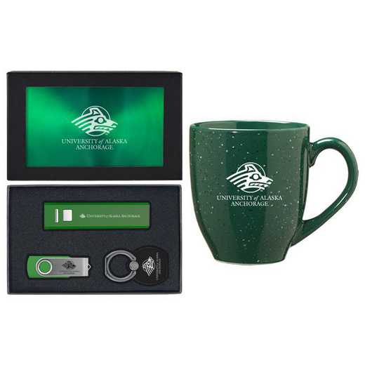 SET-A2-AKANCH-GRN: LXG Set A2 Tech Mug, Alaska-Anchorage