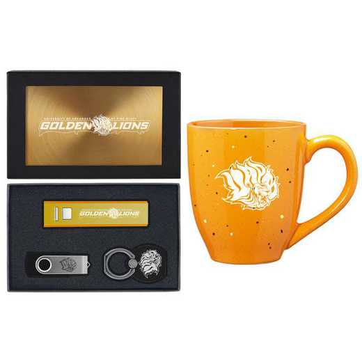 SET-A2-ARKPNBF-GLD: LXG Set A2 Tech Mug, Arkansas-Pine Bluff