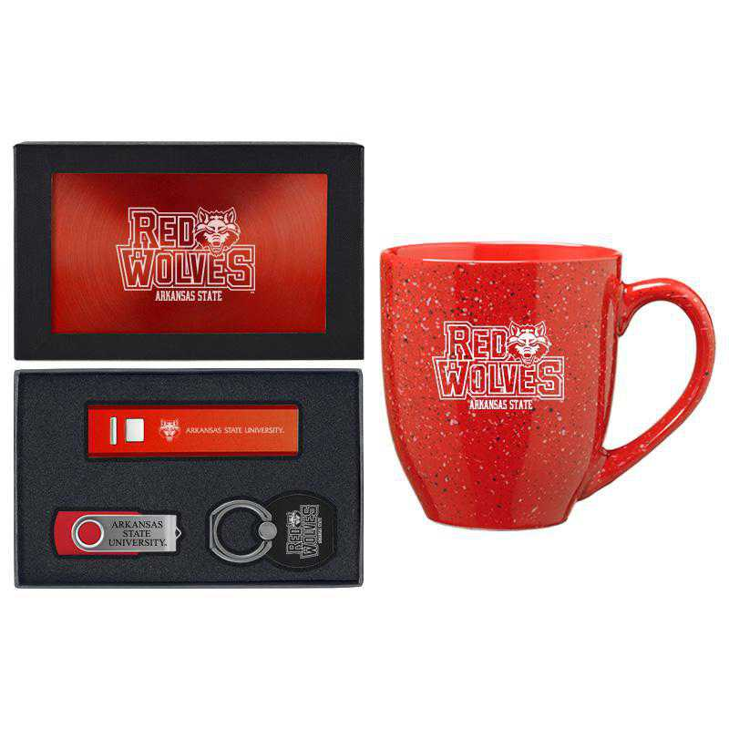 SET-A2-ARKST-RED: LXG Set A2 Tech Mug, Arkansas State