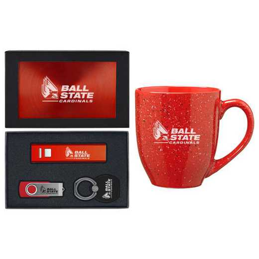 SET-A2-BALLST-RED: LXG Set A2 Tech Mug, Ball State