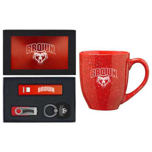 SET-A2-BROWN-RED: LXG Set A2 Tech Mug, Brown