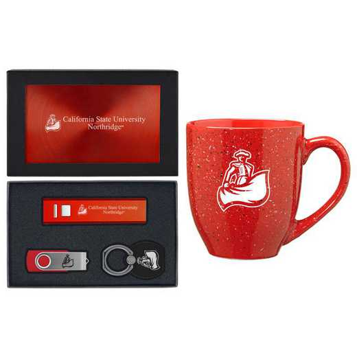 SET-A2-CASTNTH-RED: LXG Set A2 Tech Mug- California State-Northridge