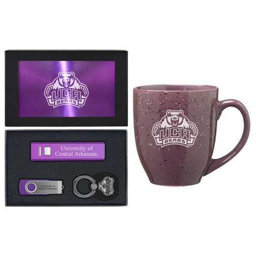 SET-A2-CNTRLARK-PURP: LXG Set A2 Tech Mug, Central Arkansas