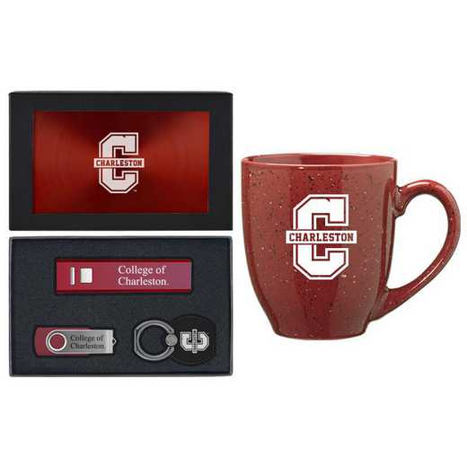 SET-A2-COLCHAR-BUR: LXG Set A2 Tech Mug, Charleston College