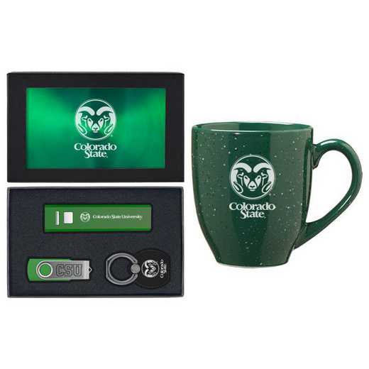 SET-A2-CSU-GRN: LXG Set A2 Tech Mug, Colorado State