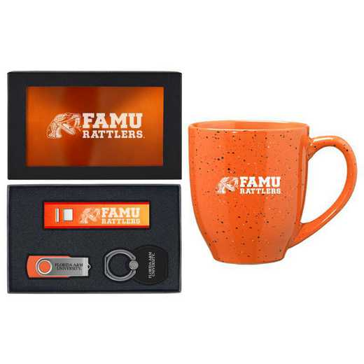 SET-A2-FLA&M-ORN: LXG Set A2 Tech Mug, Florida A&M