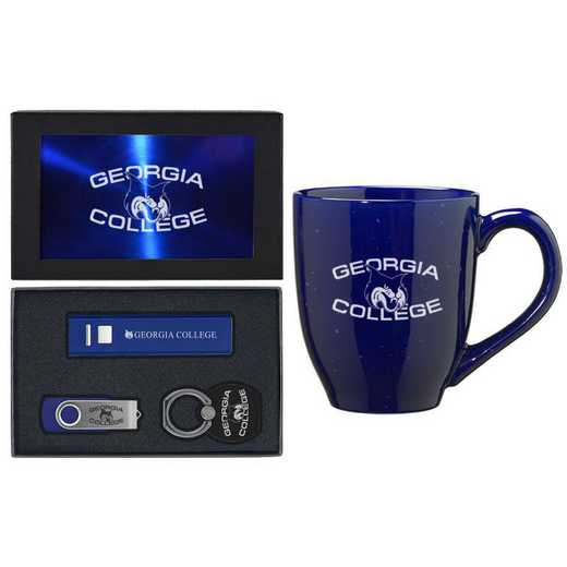 SET-A2-GCSU-BLU: LXG Set A2 Tech Mug, Georgia College