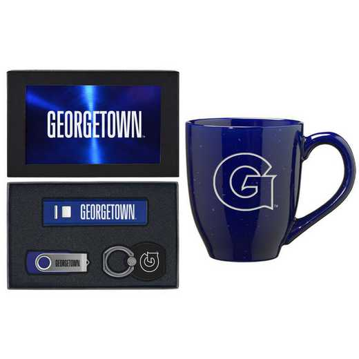SET-A2-GORGTWN-BLU: LXG Set A2 Tech Mug, Georgetown