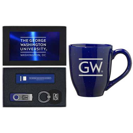 SET-A2-GORGWSH-BLU: LXG Set A2 Tech Mug, George Washington