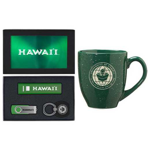 SET-A2-HAWAII-GRN: LXG Set A2 Tech Mug, Hawaii