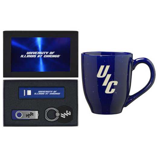SET-A2-ILCHICAGO-BLU: LXG Set A2 Tech Mug, Illinois-Chicago