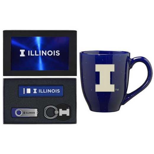 SET-A2-ILLINOS-BLU: LXG Set A2 Tech Mug, Illinois