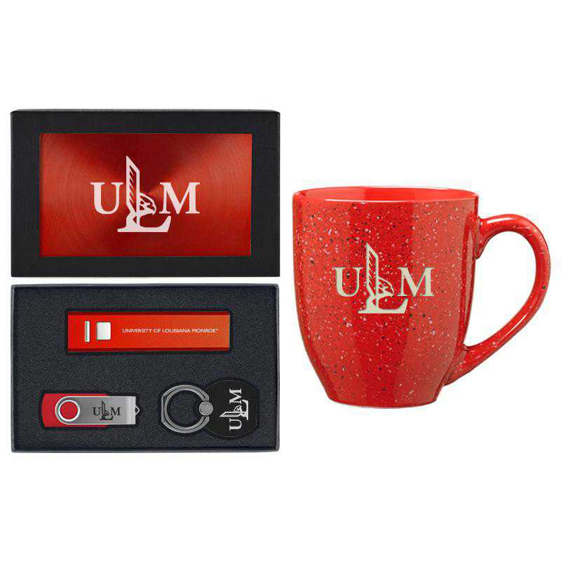 SET-A2-LAMNROE-RED: LXG Set A2 Tech Mug, Louisiana-Monroe
