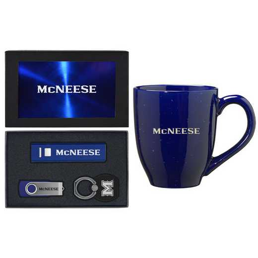 SET-A2-MCNEESE-BLU: LXG Set A2 Tech Mug, McNeese State