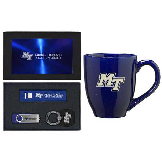 SET-A2-MTSU-BLU: LXG Set A2 Tech Mug, Middle Tennessee State