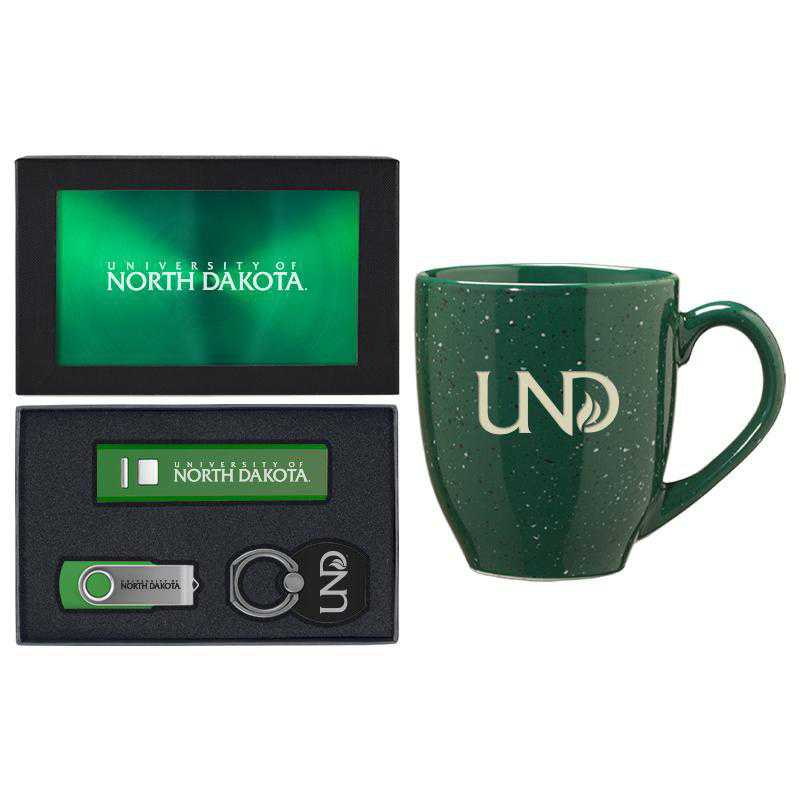SET-A2-NDAKOTA-GRN: LXG Set A2 Tech Mug, North Dakota
