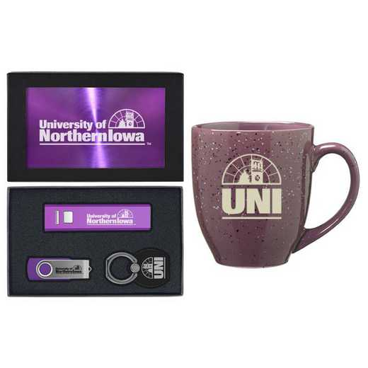 SET-A2-NRTHIA-PURP: LXG Set A2 Tech Mug, Northern Iowa