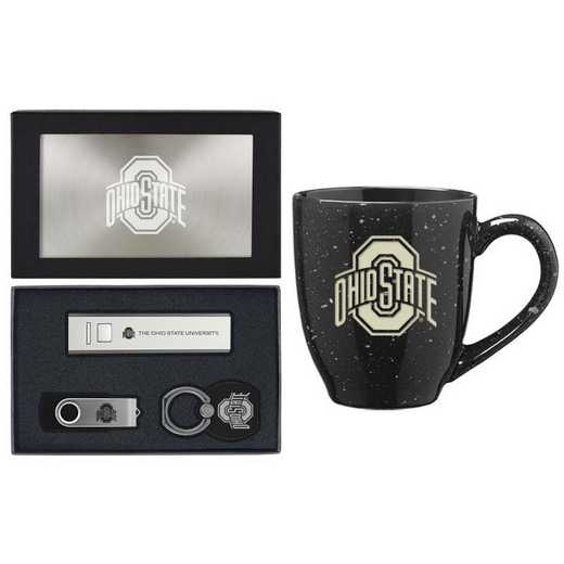 SET-A2-OHIOST-SIL: LXG Set A2 Tech Mug, Ohio State