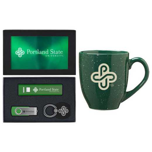 SET-A2-PORTLNDST-GRN: LXG Set A2 Tech Mug, Portland State