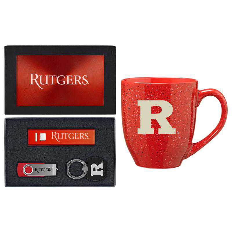 SET-A2-RUTGERS-RED: LXG Set A2 Tech Mug, Rutgers