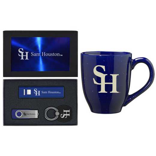 SET-A2-SAMHOUSTN-BLU: LXG Set A2 Tech Mug, Sam Houston State