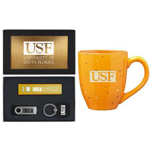 SET-A2-SFLOR-GLD: LXG Set A2 Tech Mug, South Florida