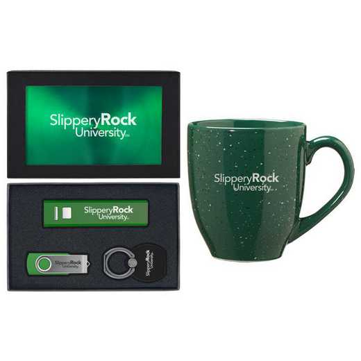 SET-A2-SLPROCK-GRN: LXG Set A2 Tech Mug, Slippery Rock