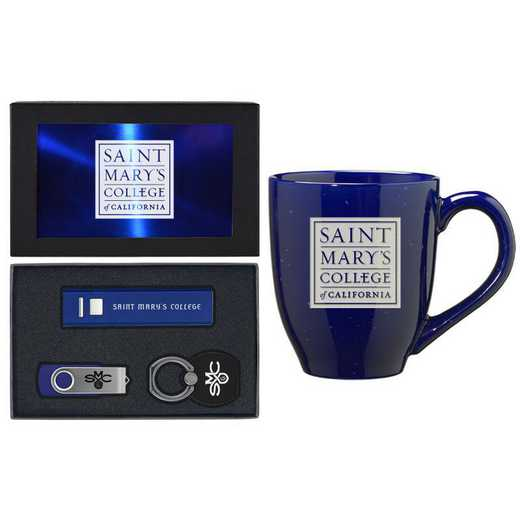 SET-A2-STMARYS-BLU: LXG Set A2 Tech Mug, Saint Mary's-California