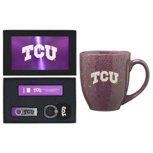 SET-A2-TCU-PURP: LXG Set A2 Tech Mug, Texas Christian