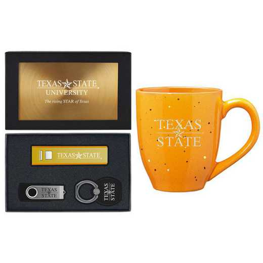 SET-A2-TEXASST-GLD: LXG Set A2 Tech Mug, Texas State